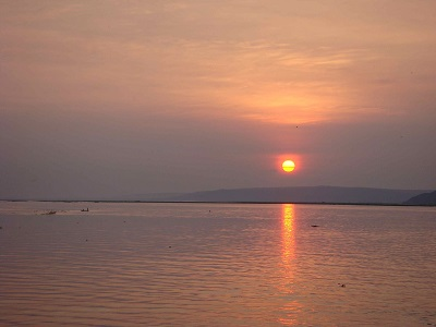 03 Sunset on the Congo river