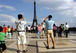 Tourists in Paris