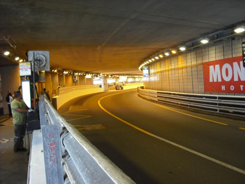 Monaco Formula One tunnel section