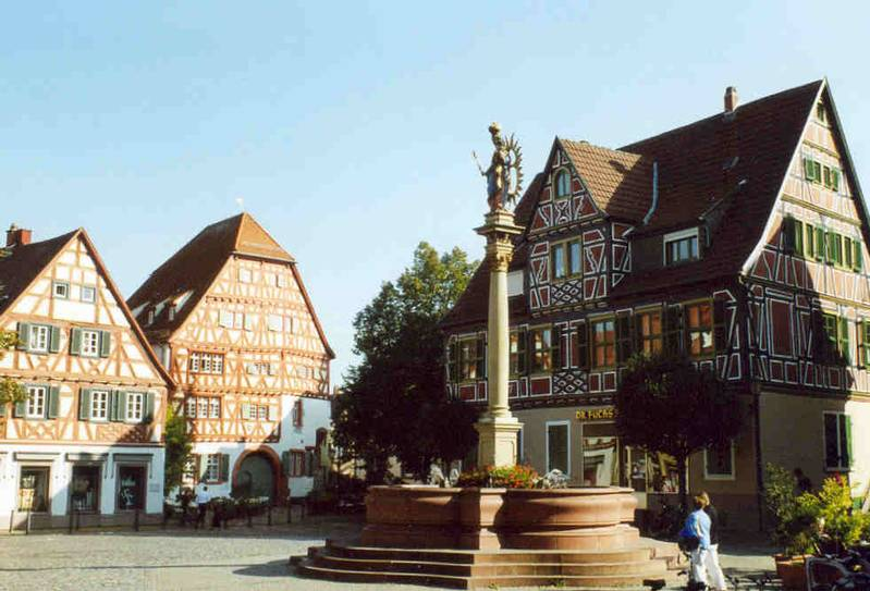 Market Square in Ladenburg Credit: S. Finner