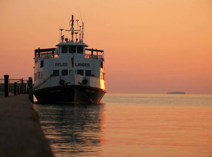 The Pelee Islander at Sunset at West Dock Credit: N. Shogren