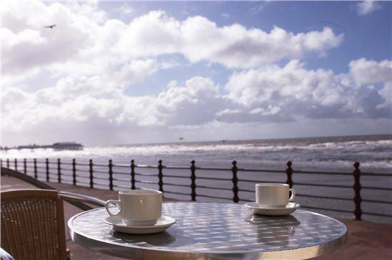 A seafront coffee Credit: Blackpool Council