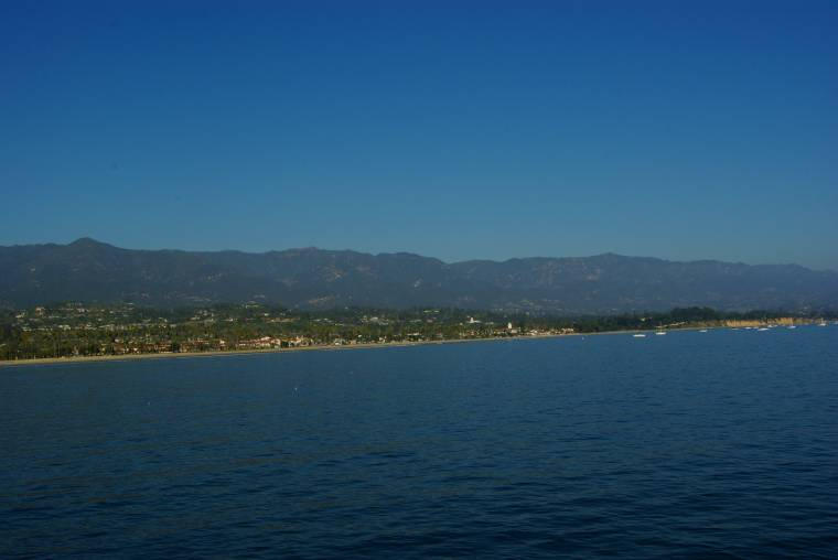 Santa barbara seen from a boat