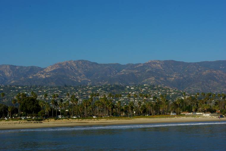 Santa barbara seen from the pier