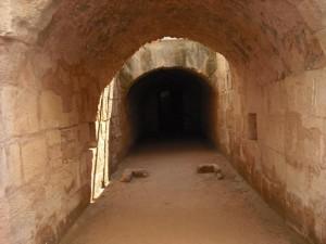 Underground tunnel: El Jem Amphitheatre Credit: author image