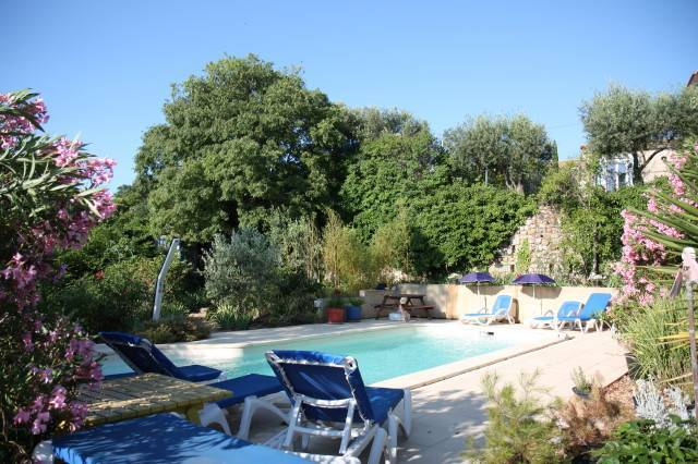 A place to relax - the pool at Le Couvent - Gail Parker
