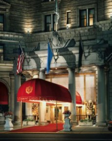 Front Entrance of Boston's Fairmont Copley Plaza