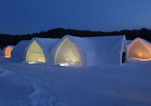 Ice hotel Quebec Canada, Credit:sheknows.ca