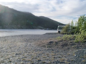 The Chitina River where it meets the Copper River