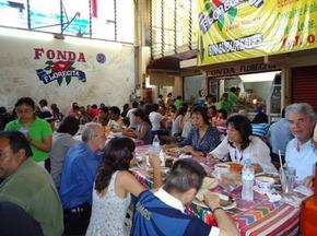 Restaurant in Mercado de la Merced, Oaxaca - A. Starkman
