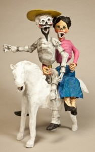 """Conquistador and Lady on Horseback-courtesy of Canadian Museum of Civilization."