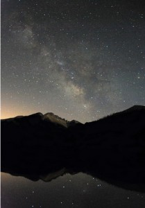 Longs peak @ night, Credit-wunderground.com