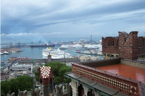 View of Genoa's port - M.R.
