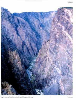 Peering Down the Black Canyon Source: National Park Service/Lisa Lynch