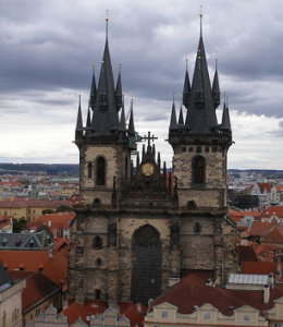 Tyn Church's grand Gothic exterior is sure to enchant visitors., Cr Wikipedia