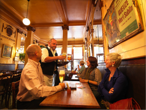 Inside a Bar