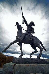 "The statue, ""Buffalo Bill – The Scout"" sits outside the Buffalo Bill Historical Center in Cody, Wyo. /Sean Campbell for BBHC"