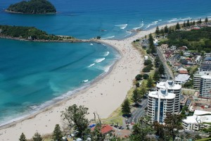 The Town of Maunganui from the top of the Mount ,cr-flicker