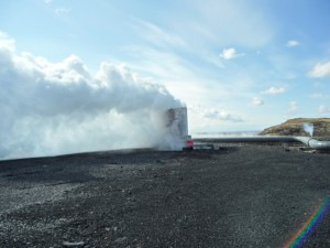 Geothermal Bore not yey capped, by R. fleck