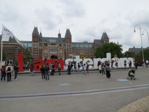I AMsterdam outdoor sculpture in front of the newly-reopened Rijksmuseum