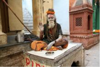 Holy Man in Old Town Varanasi