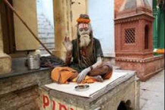 Holy Man in Old Town Varanasi