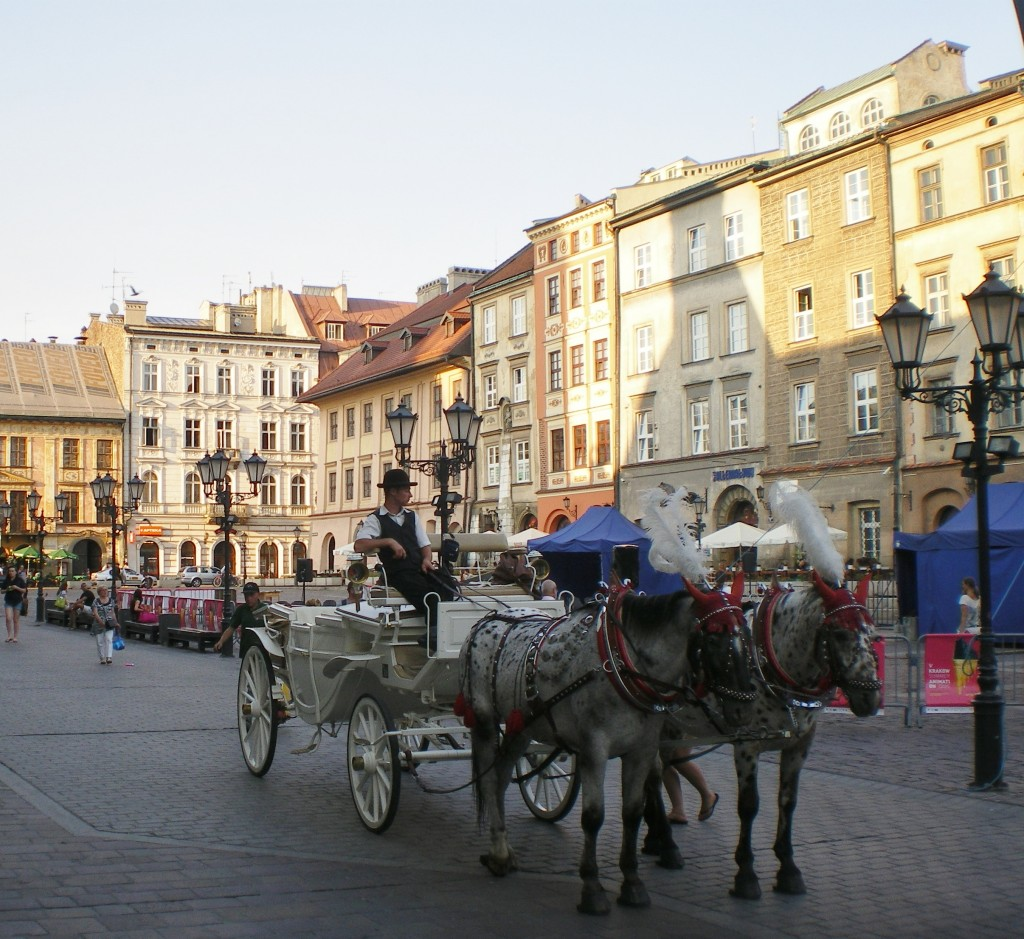 Horse-drawn carriage in Kraków