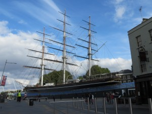 The Cutty Sark immediately catches your eye