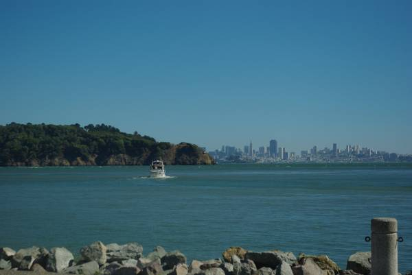 San Francisco seen from the other side
