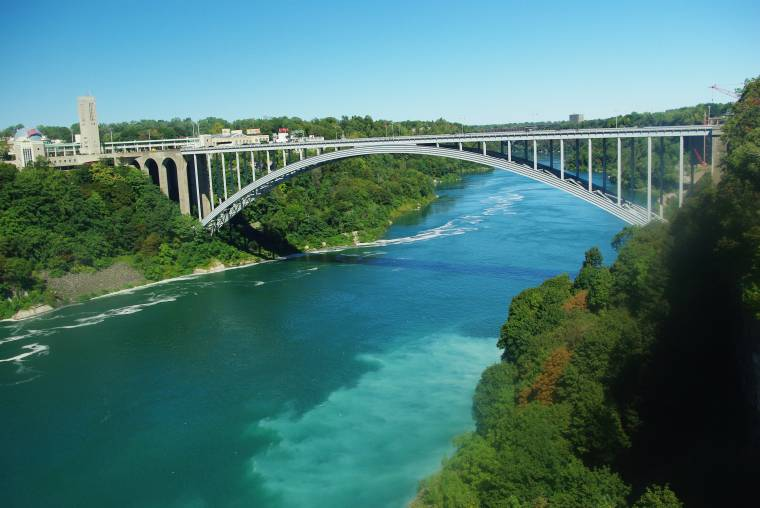 Bridge connecting Canada