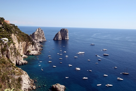 Amalfi coast to Capri Boat ride