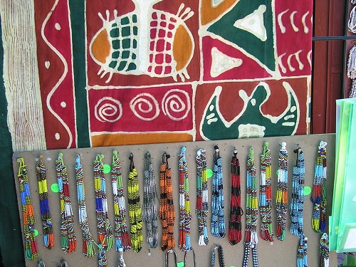 Bright African craft work