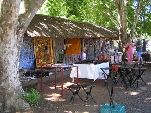 Some of the lovely outdoor craft stalls
