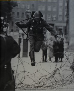 GDR Soldier jumping from East to West Berlin, August, 1961