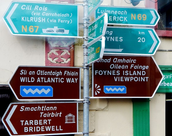 Irish street signs